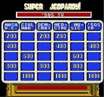 Игра Денди Super Jeopardy! (Супер Опасности!) онлайн