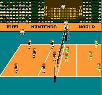 игра Volleyball (UE) [!].nes