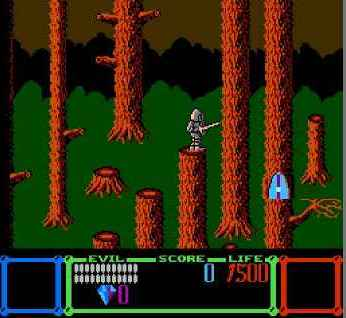 игра Wizards & Warriors (U) (PRG1) [!].nes