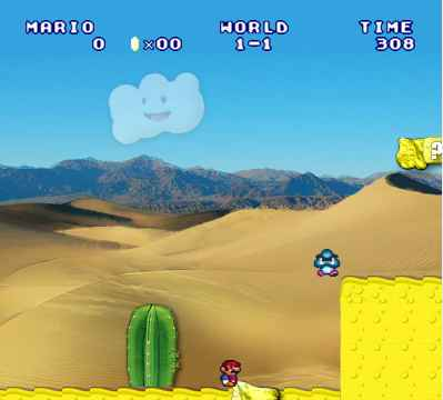 Mario in the desert